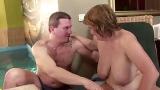 Stunning young man and MILF anal lover