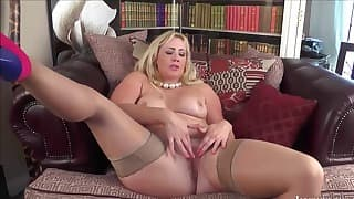 Good-looking blonde BBW gets fucked